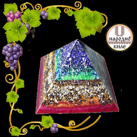 Оргонит - Пирамида (основа 8,5 х 8,5 см)